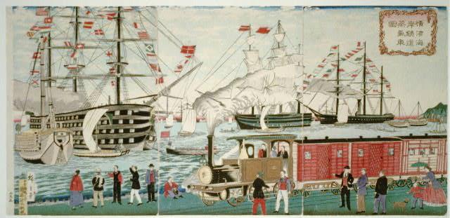 Hafen von Yokohama 1872