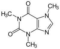Chemische Formel für Koffein