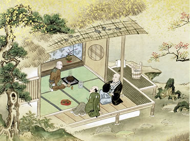 Teezeremonie um etwa 1700