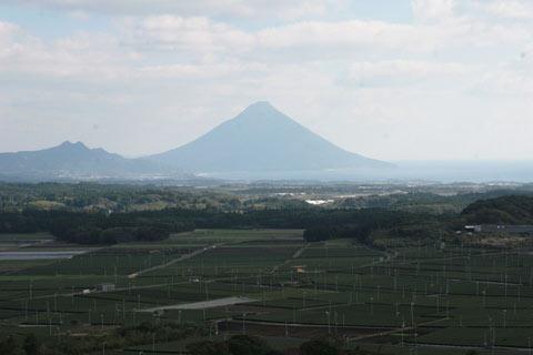 Kagoshima Teefeld mit Berg
