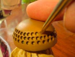 Anfertigen eines hochwertigen Keramiksiebs