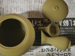 Formteile der Teekanne