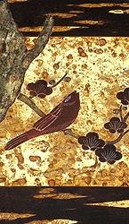 Kirschbaumrinde Einlegearbeit